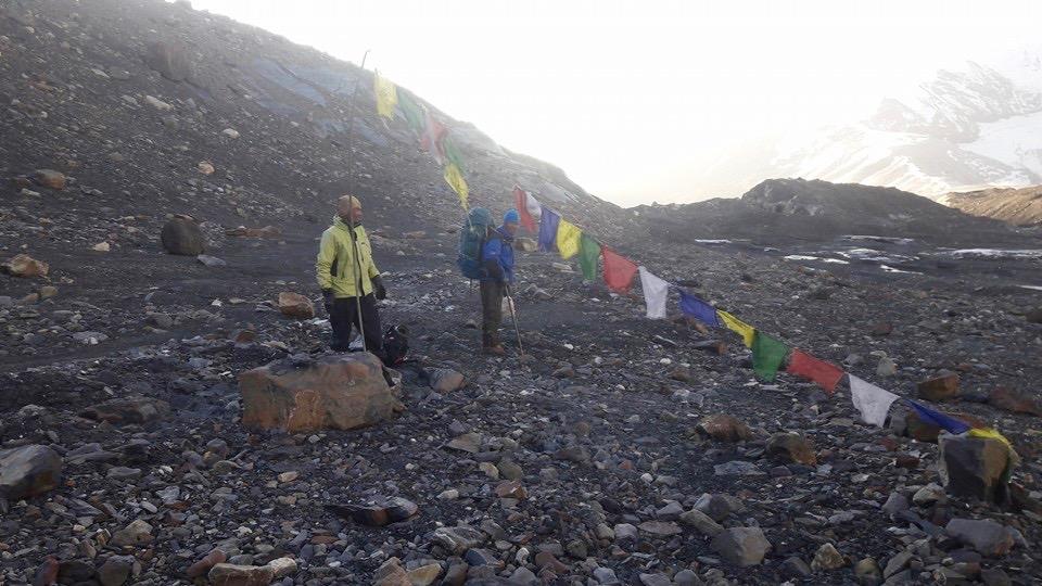 Le Mukot Base Camp au printemps 2016