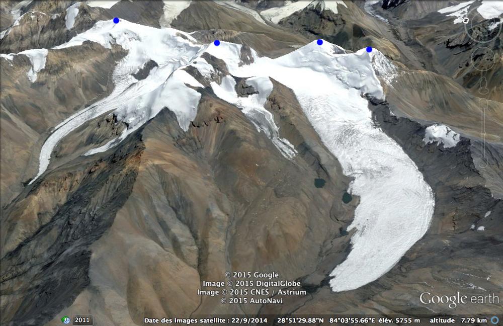 Et une réalité virtuelle, grâce à Google Earth !!!