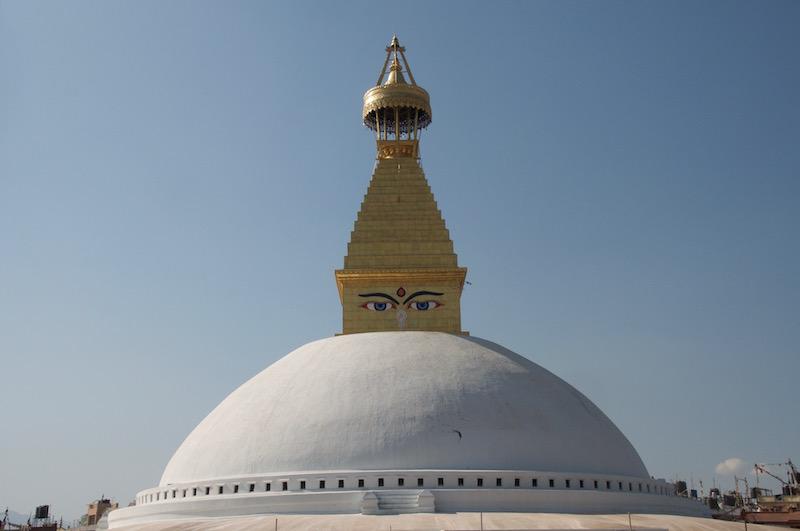 Pour nous, tout commencera bien sûr à Boudhanath, au grand Stupa.