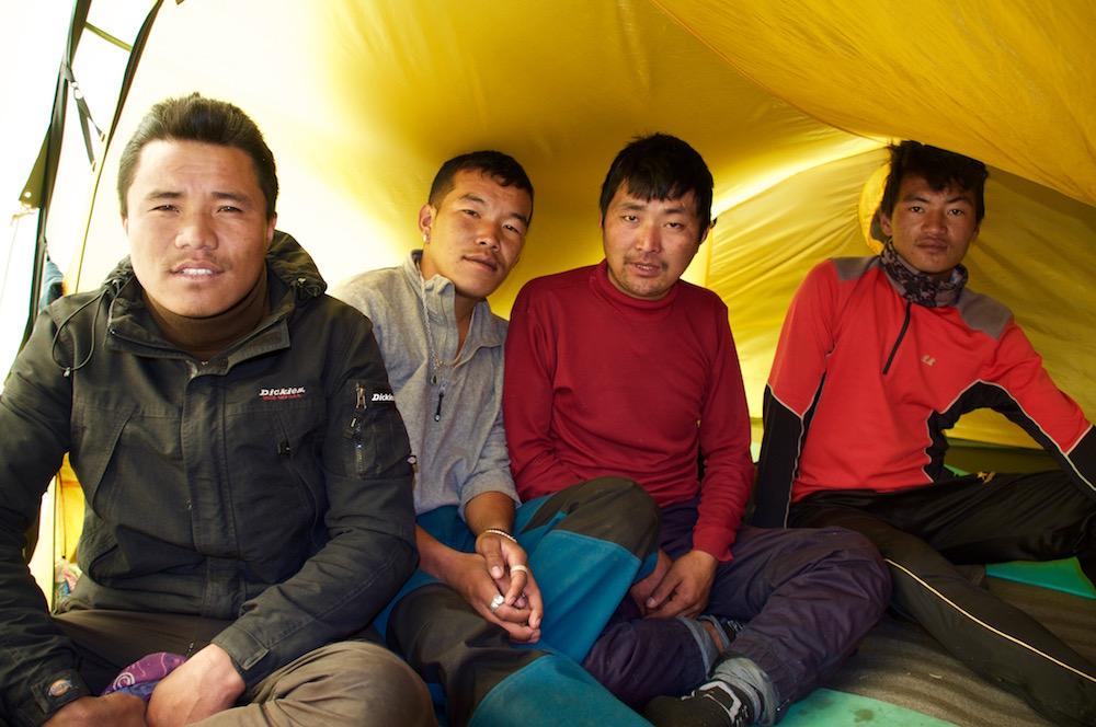 Et chaque petites groupes a sa propre tente d'altitude, comme les Quiré !