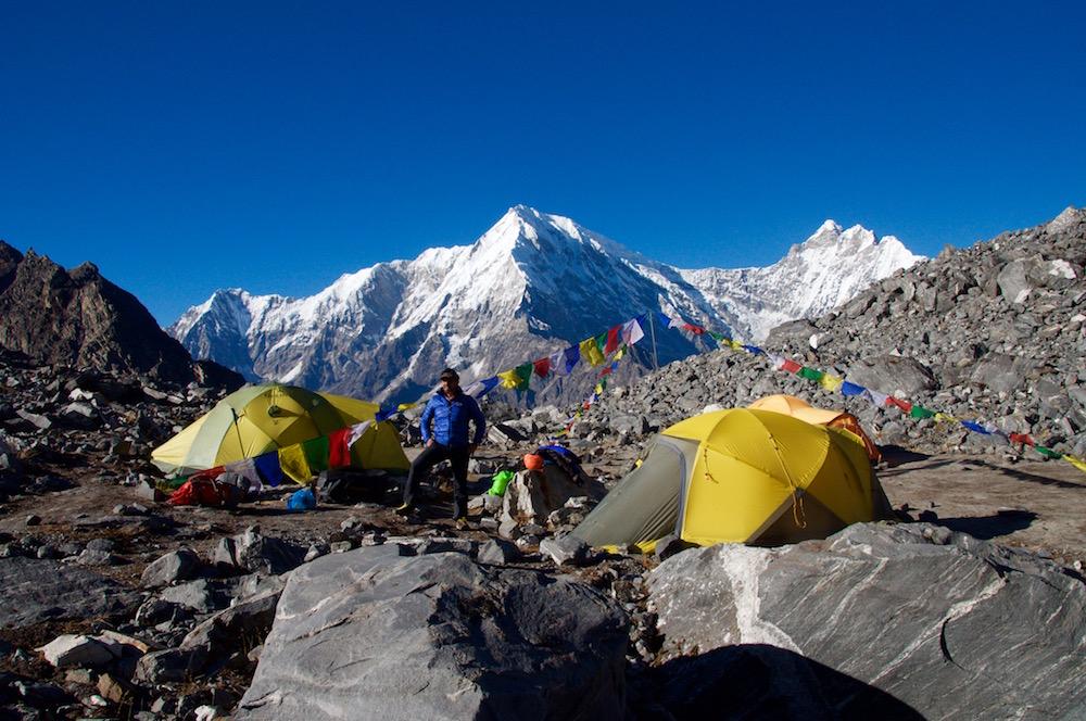 Le camp de base du Gangja La Peak. Très agréable...