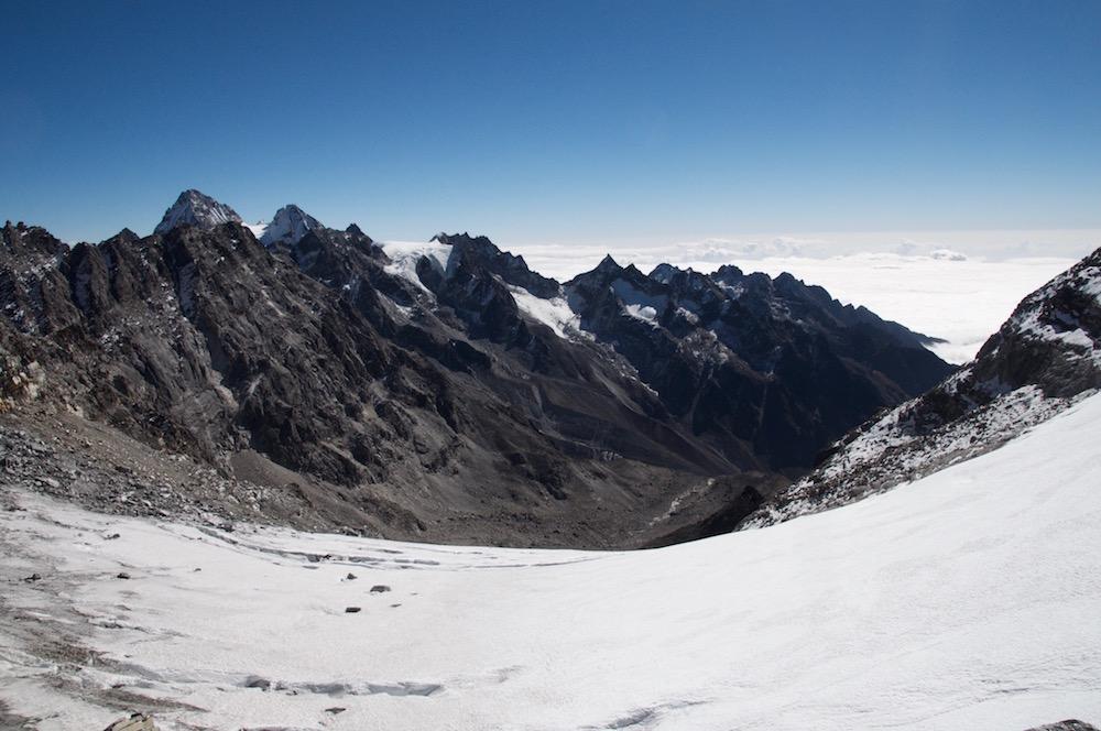 Le versant Sud du Col.