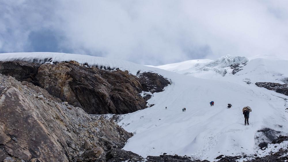 La langue terminale du glacier. Aucun souci !
