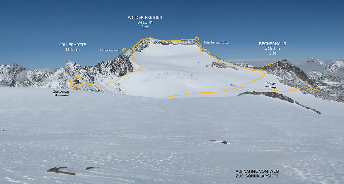 randonnée glaciaire en Autriche