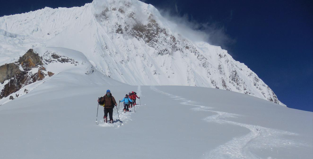 manaslu ski expedition 2020