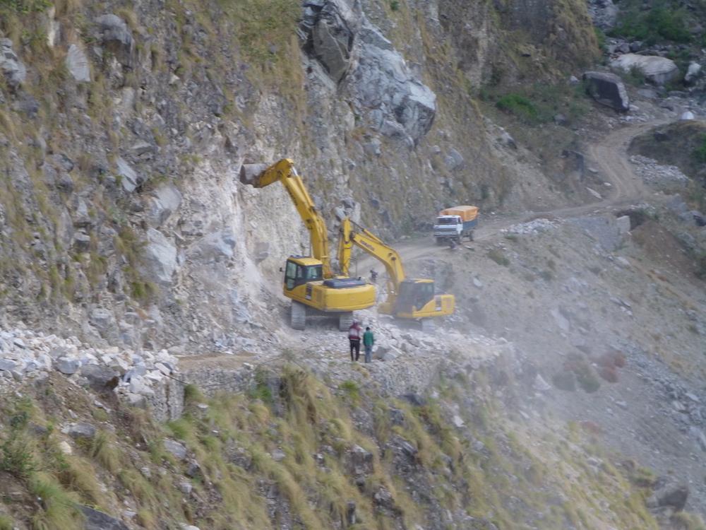 la route d'accès au massif du Kanjiroba