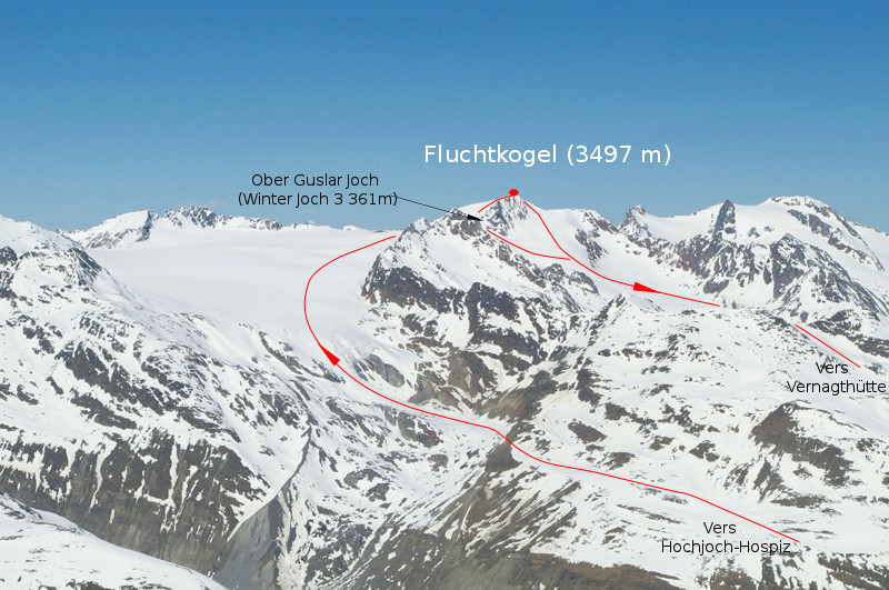 raid à ski en autriche