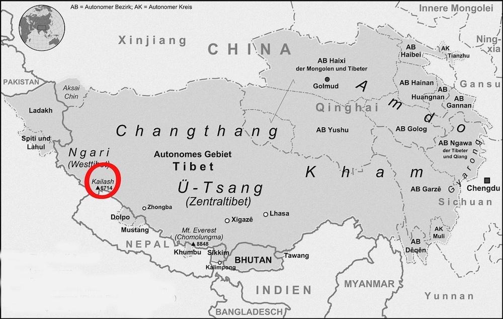 la carte du kailash