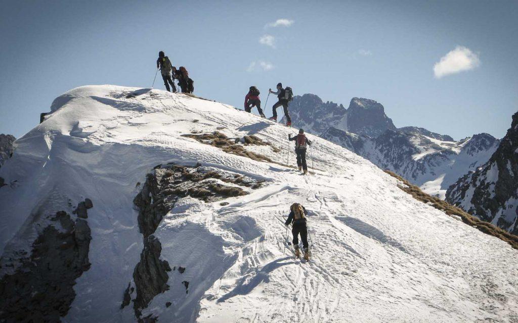 initiation au ski de randonnée dans le queyras