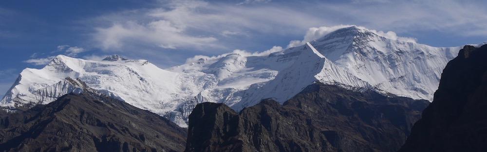les sommets des Dhaulagiri