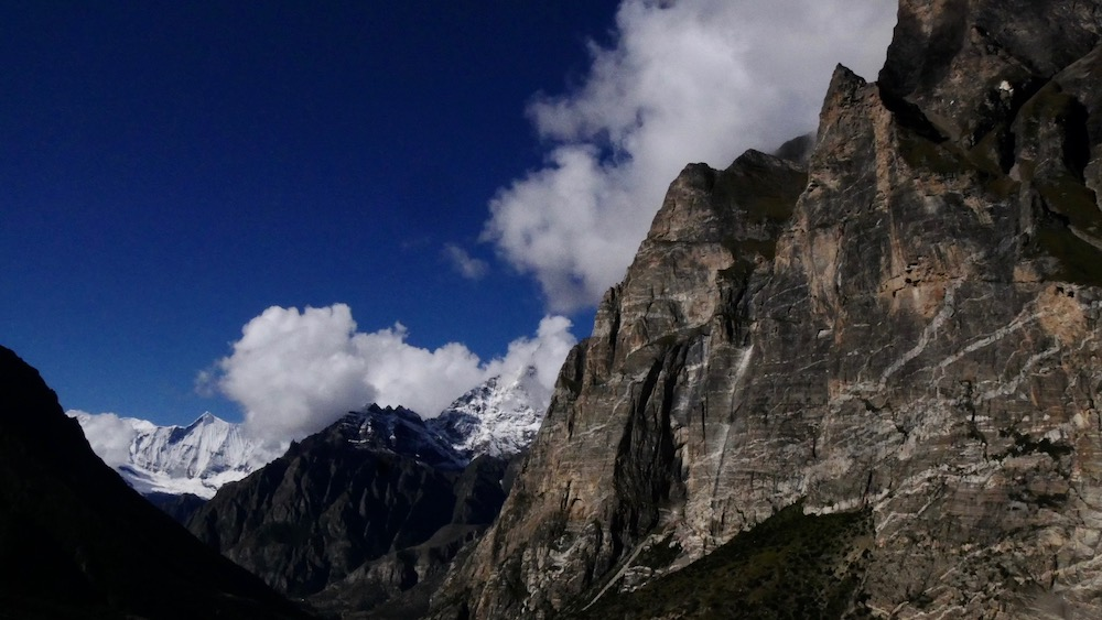Nepal climbing Camp Kyang