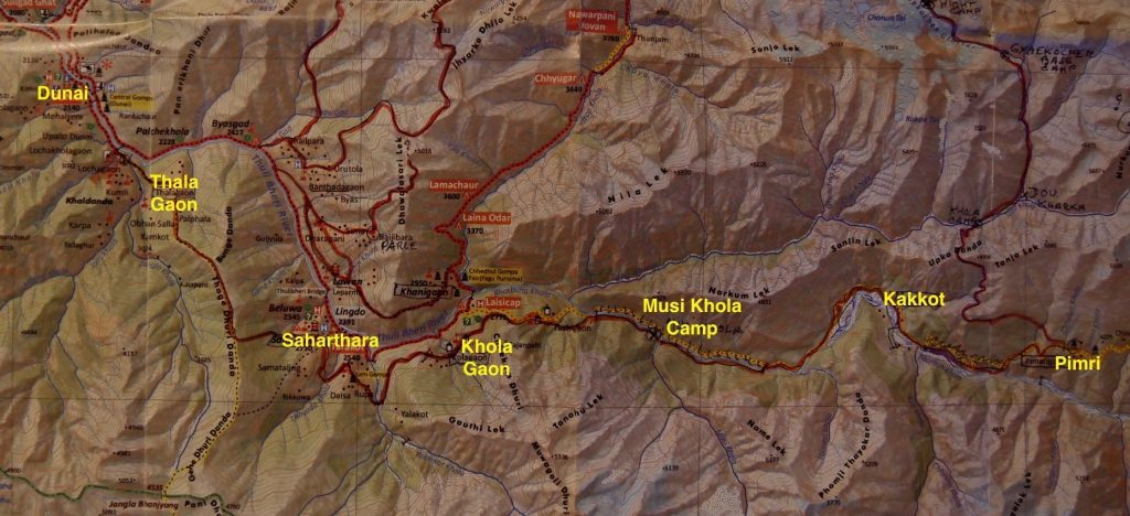 gyaekochen trek map