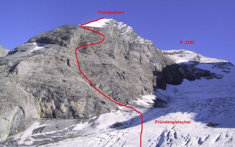 l'itinéraire du frundenhorn