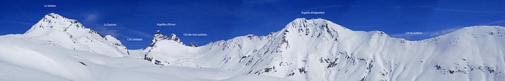 les sommets à partir du refuge du Goléon
