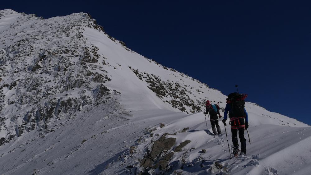 L'arête de Puy Golèfre en hiver