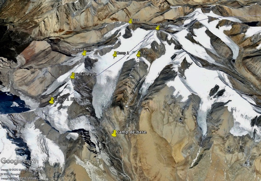 mukot himal by Google Earth