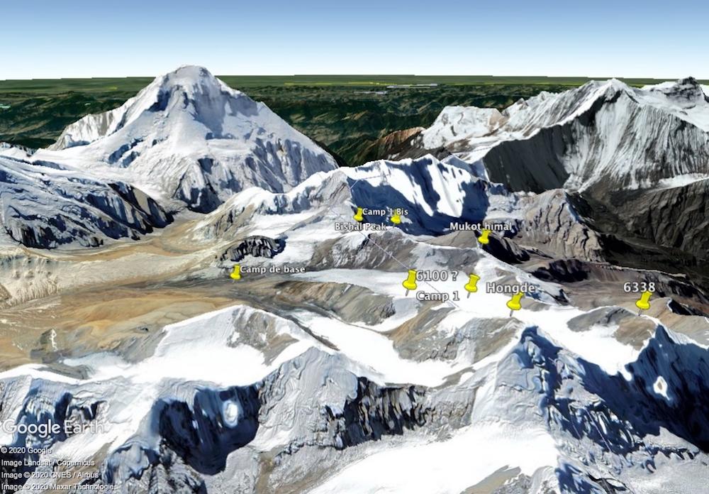 mukot himal sur Google Earth