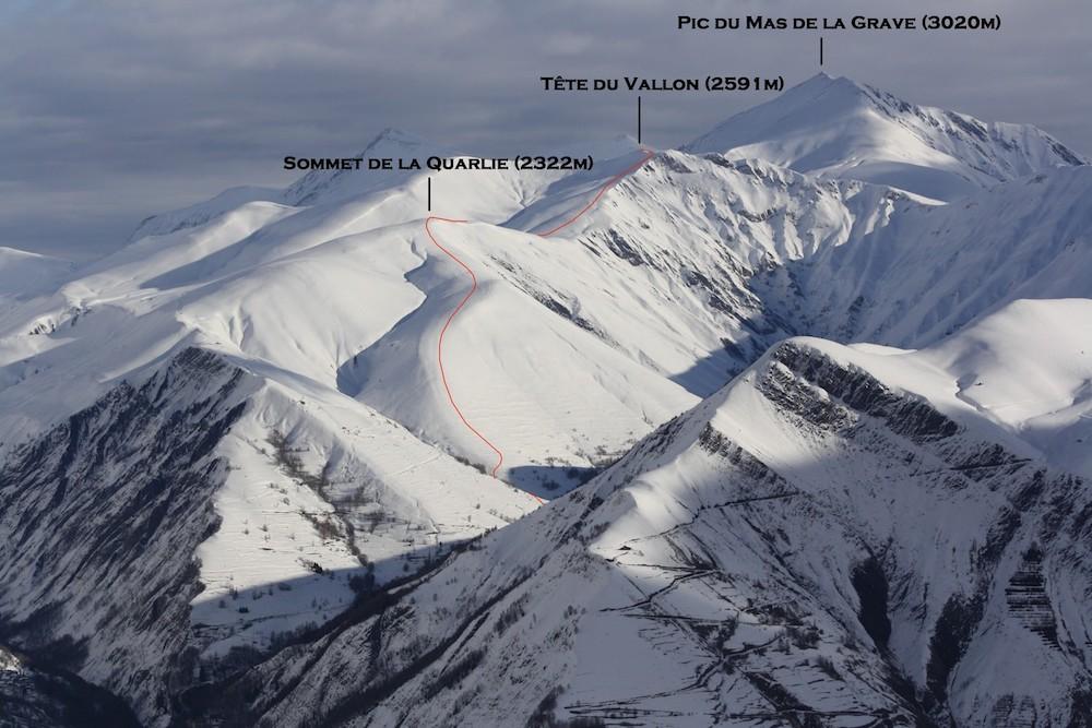 le raid à ski du plateau d'Emparis